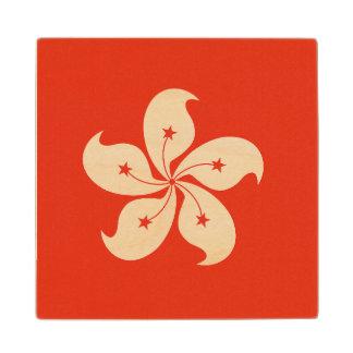 Hong Kong Flag Wood Coaster