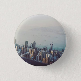Hong Kong From Above 3 Cm Round Badge