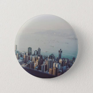Hong Kong From Above 6 Cm Round Badge