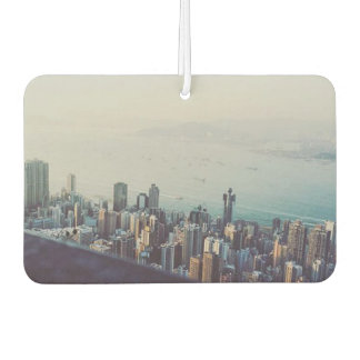 Hong Kong From Above Custom Design Car Air Freshener