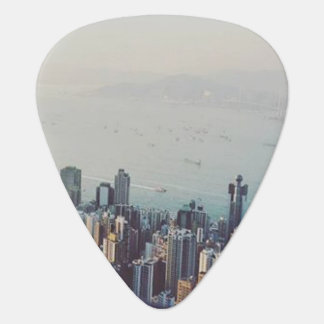 Hong Kong From Above Guitar Pick