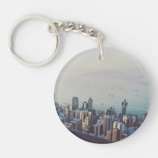 Hong Kong From Above Key Ring