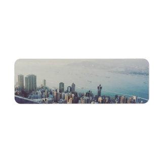 Hong Kong From Above Return Address Label