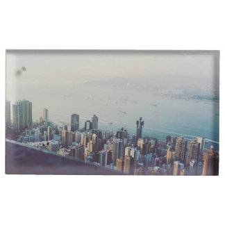 Hong Kong From Above Table Card Holder