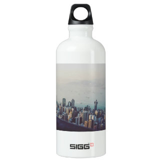 Hong Kong From Above Water Bottle