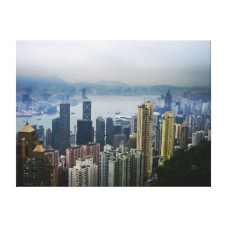 Hong Kong Harbor Mists Canvas Prints