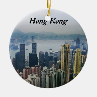 Hong Kong Harbor Mists Ceramic Ornament
