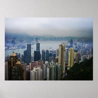 Hong Kong Harbor Mists Print