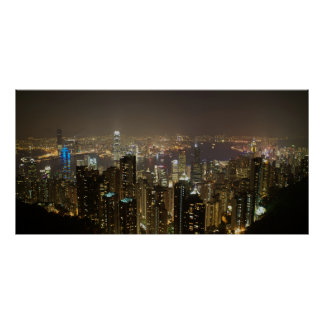 Hong Kong Harbor (night scene) Poster