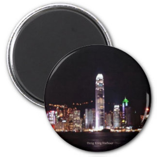 Hong Kong Harbour 6 Cm Round Magnet