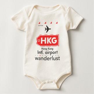 Hong Kong HKG airport code Baby Bodysuit