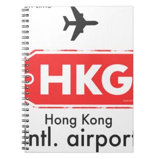Hong Kong HKG airport code Notebook