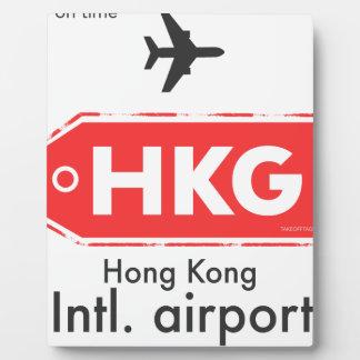 Hong Kong HKG airport code Plaque