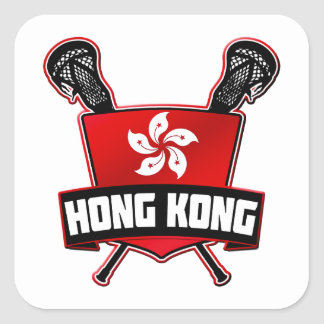 Hong Kong Lacrosse Square Sticker