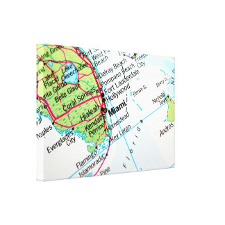 Hong Kong Map Gallery Wrapped Canvas