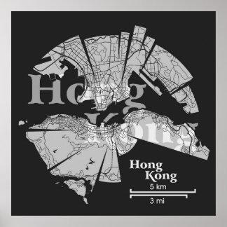 Hong Kong Map Poster