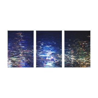 Hong-Kong Night Canvas Print