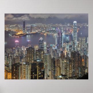 Hong Kong Night Print