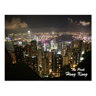 Hong Kong Night Scene, The Peak, Postcard