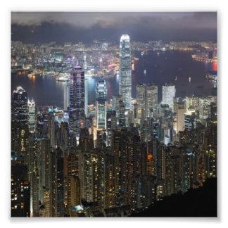 Hong Kong Night Skyline Photograph