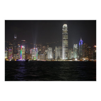 Hong Kong Night Skyline Posters