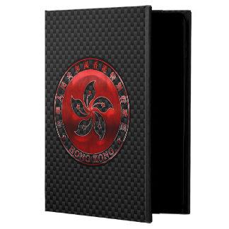 Hong Kong Red Steel Seal on Carbon Fiber Print iPad Air Cases