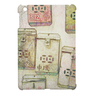 Hong Kong Retro: Metal Mailboxes Tablet Case iPad Mini Cases