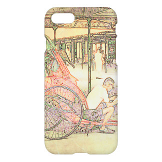 Hong Kong Retro: Rickshaw Driver Phone Case