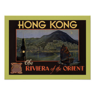 Hong Kong ~ Riviera of the Orient Posters