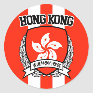 Hong Kong Round Sticker