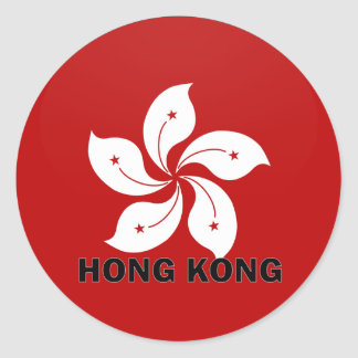 Hong Kong Roundel quality Flag Classic Round Sticker