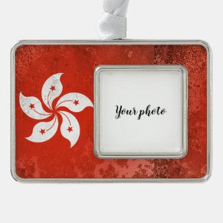 Hong Kong Silver Plated Framed Ornament