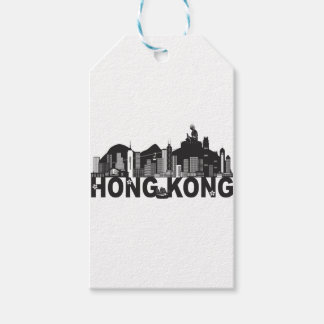 Hong Kong Skyline Buddha Statue Text Gift Tags