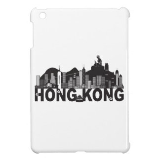 Hong Kong Skyline Buddha Statue Text iPad Mini Covers