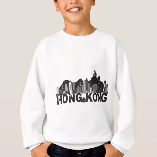Hong Kong Skyline Buddha Statue Text Sweatshirt