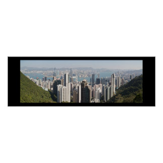 Hong Kong Skyline from Victoria Peak Poster