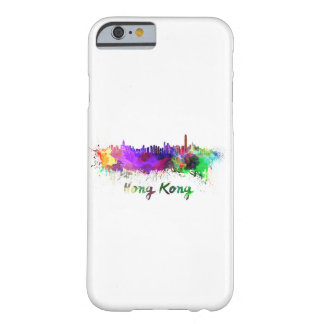 Hong Kong skyline in watercolor Barely There iPhone 6 Case