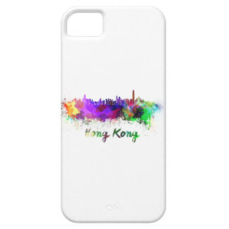 Hong Kong skyline in watercolor iPhone 5 Cover