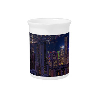 Hong Kong Skyline Pitcher