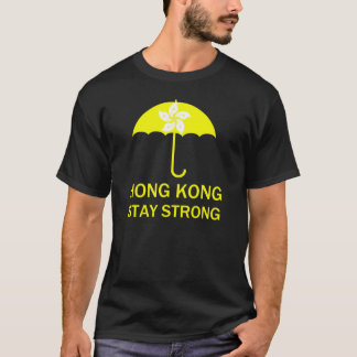 Hong Kong Stay Strong Umbrella Revolution Protests T-Shirt