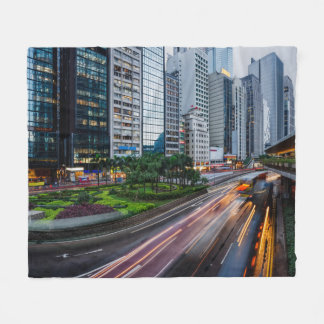 Hong Kong Traffic fleece blanket