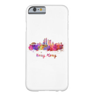 Hong Kong V2 skyline in watercolor Barely There iPhone 6 Case