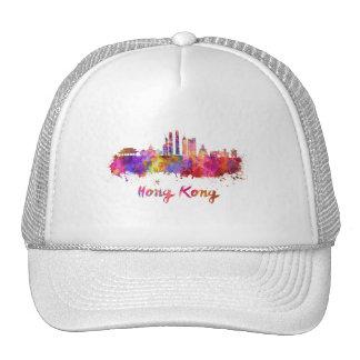 Hong Kong V2 skyline in watercolor Cap