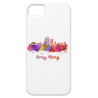 Hong Kong V2 skyline in watercolor iPhone 5 Cover