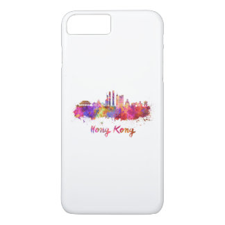 Hong Kong V2 skyline in watercolor iPhone 8 Plus/7 Plus Case
