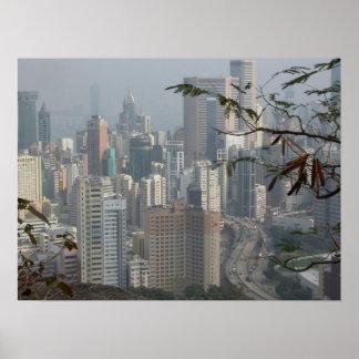 Hong Kong view Poster