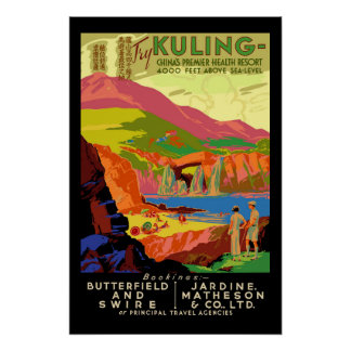Hong Kong Vintage Travel Poster