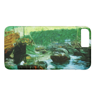 Hong Kong Water Taxis Abstract Impressionism iPhone 7 Plus Case