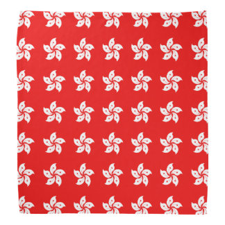 Hong Kong White Orchid Symbol on Red Bandana