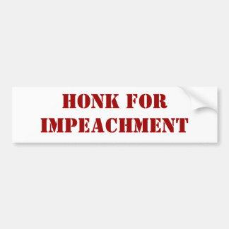 Honk For Impeachment Bumper Sticker